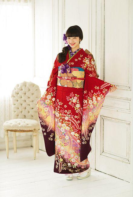 NO.049 正絹 手描辻が花|成人式の振袖販売、振袖レンタルの京都きもの友禅