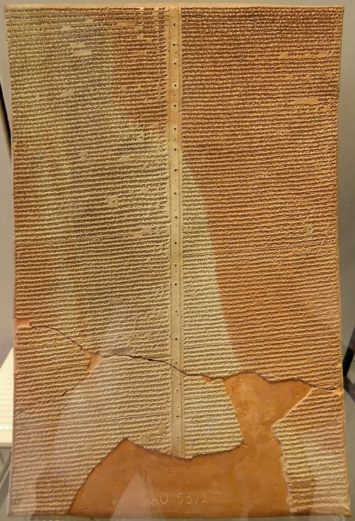 Sargon's letter to the god Ashur: Khorsabad Period: Neo-Assyrian (ca. 911-612 BC). This tablet presents an account of Sargon II's eighth campaign, against Urartu, in the form of a letter addressed to the god Ashur. The letter offers a dramatic account of a Neo-Assyrian campaign, describing the hazards and hardships of his army's march, its success in battle, and its taking of booty. The letter was addressed not only to the god but also to the people of Assur and the city itself.