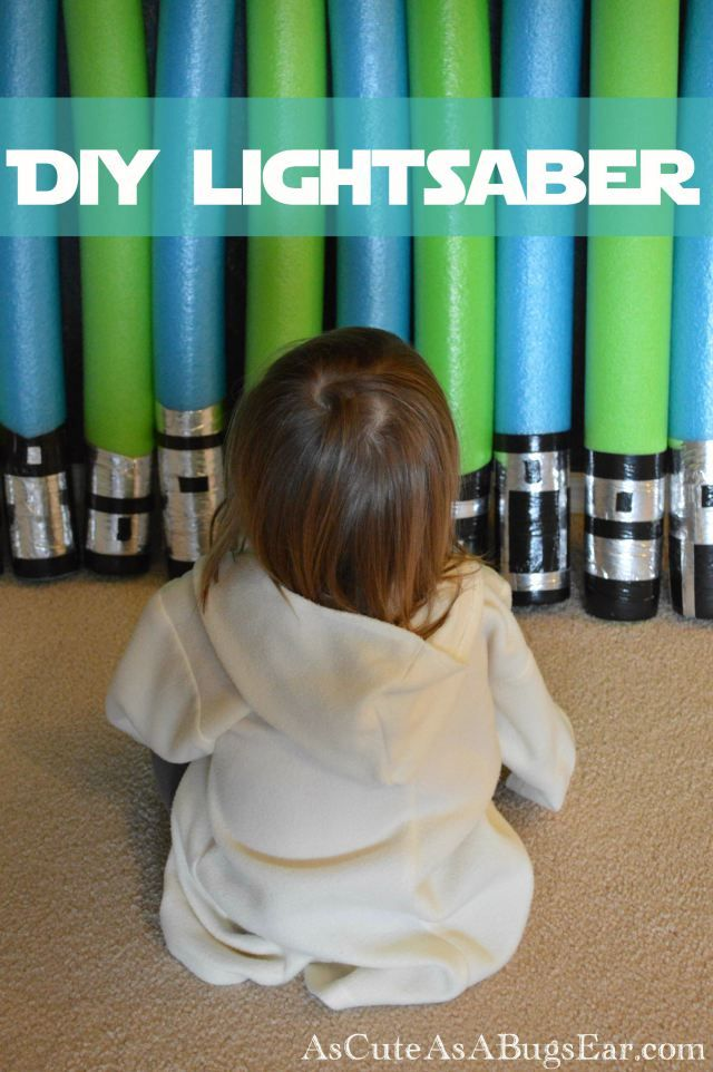 DIY Jedi LightSabers for your Star Wars Birthday Party | As Cute as a Bug's Ear| DIY| Party Favor| Jedi| Star Wars|
