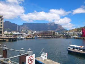 Table Mountain as seen from the V & A Waterfront