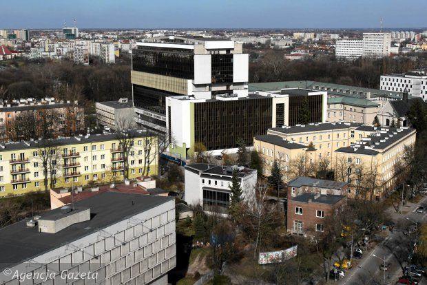 Widok na Lublin z dachu rektoratu UMCS, marzec 2014. fot. J. Orzechowski