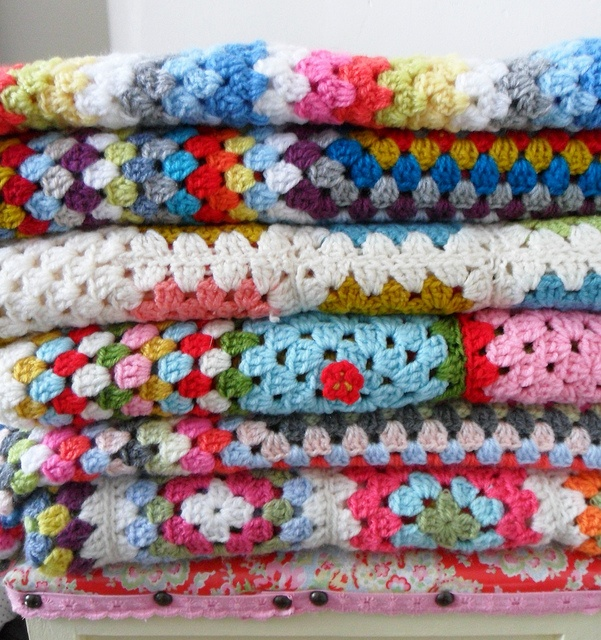 I have a crochet blanket that my Great Grandmother knitted. My kids now use this blanket. Bless. xx