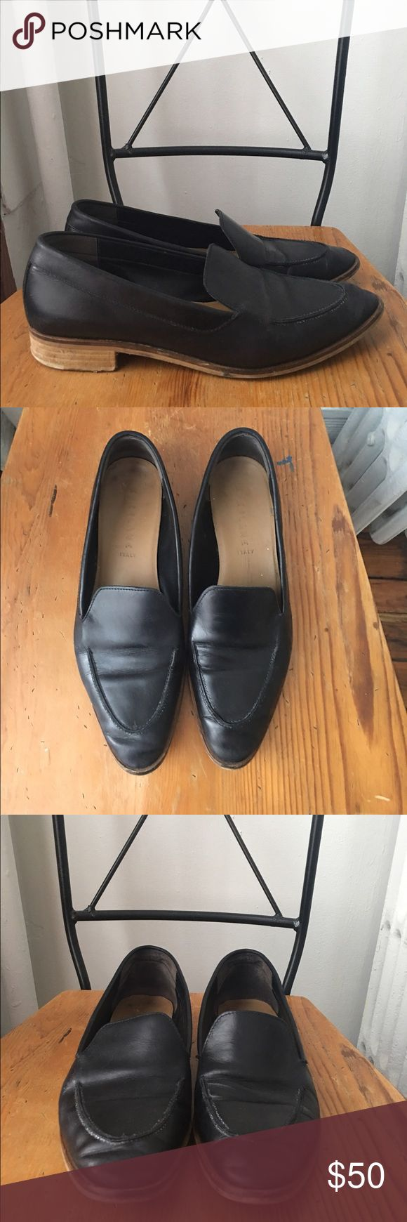Everlane The Modern Loafer Beautiful black leather loafer from Everlane in size 10. I've worn them ~12 times, so there's wear on the soles and I've priced them accordingly. However, the leather itself is in great shape! Super comfy and have never given me blisters. Fits true to size. Feel free to make an offer. Everlane Shoes Flats & Loafers