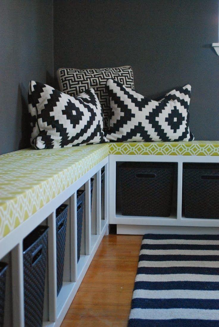 ein ikea expedit regal in eine sitzbank verwandeln transform a ikea expedit into a seat. Black Bedroom Furniture Sets. Home Design Ideas