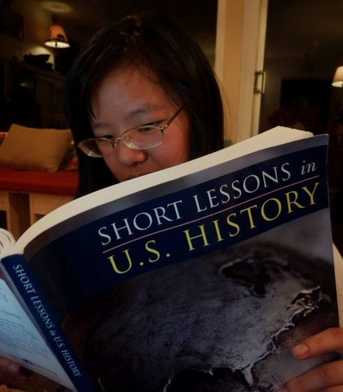 With short lessons, this book gives a clear overview of US History, with quizes, mapwork, and critical thinking questions to ponder.