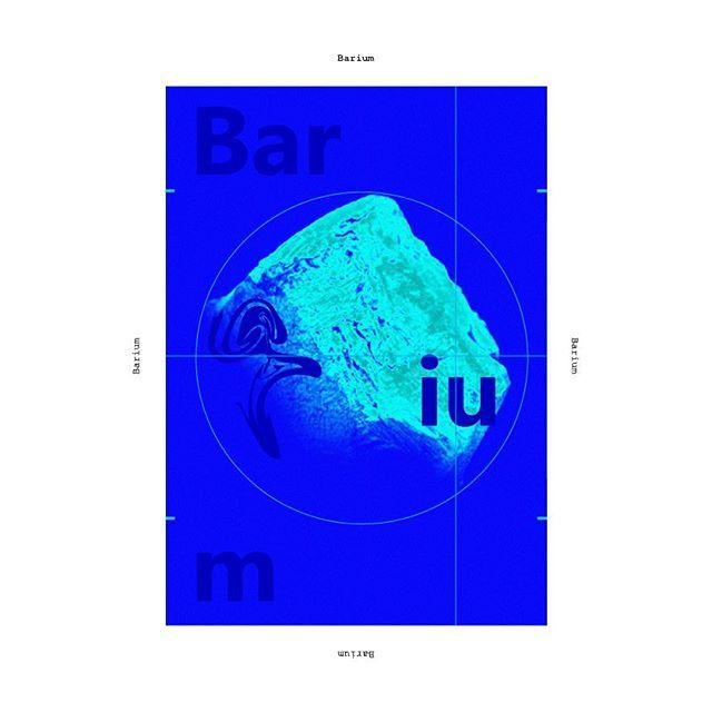 Barium #poster #posterdesign #metal #graphicdesign #design#chemicalelements #barium