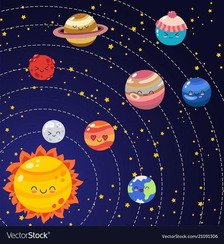 Solar Eclipse Cartoon Milky Way Manualidades Cuadernos Decorados Para Ninos Carteles Creativos