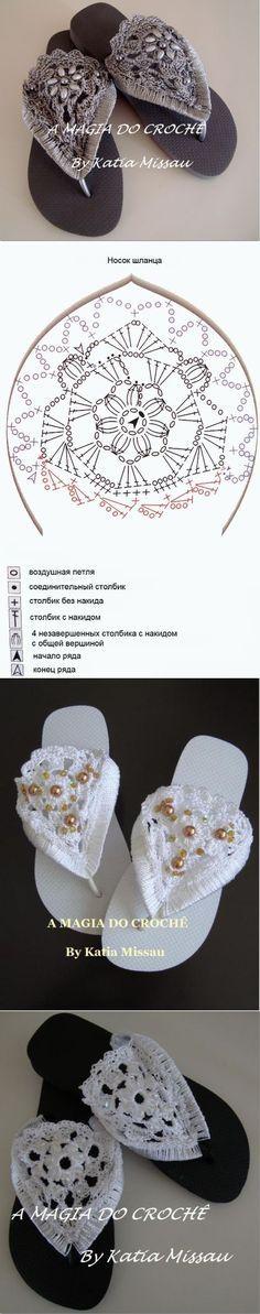 Обычные сланцы превращаются в эксклюзив. | Обувь своими руками | Постила