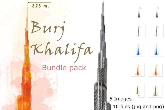 10x Burj Khalifa, Dubai, Emirates  by HQPhoto Store on @creativemarket