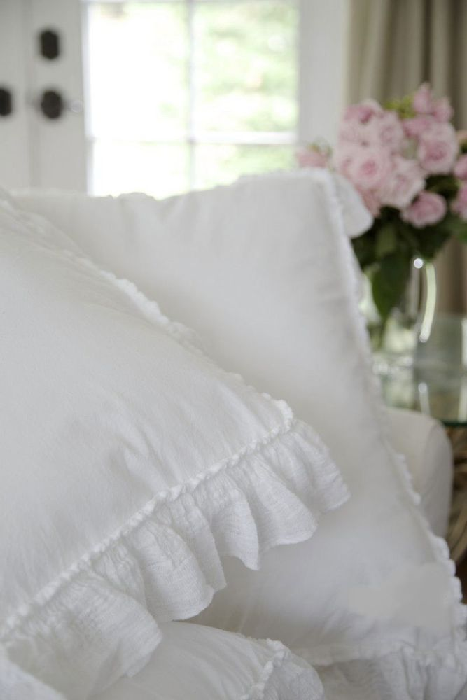Piu Belle Portugal French Shabby Chic Ruffled KING Duvet ...