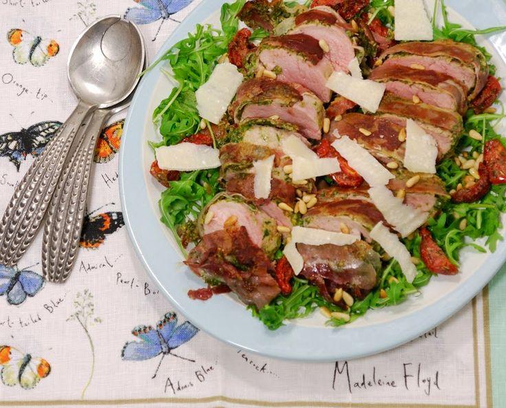 Eerst Koken: Varkenshaas met rauwe ham en grove pesto