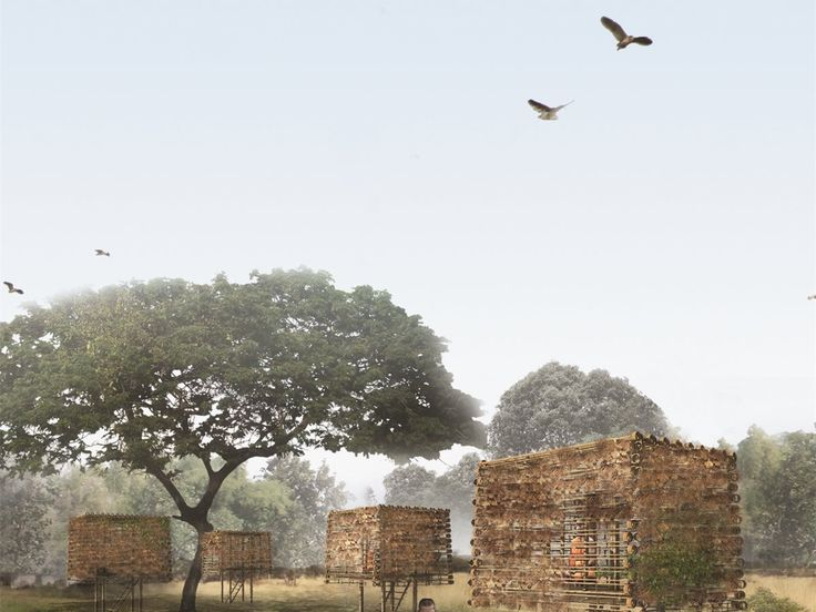 Meditation Pods: Since locals enjoy bird hunting as a pastime, meditation pods for monks (Kuti) are merged onto the design strategy. The presence of monks clad in saffron-colored robes on the site helps to reduce hunting and human encroachment.