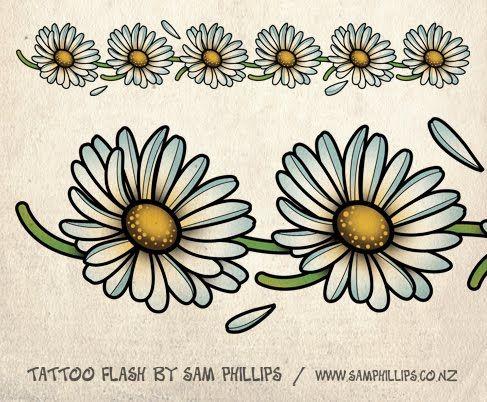 daisy tattoo on foot | daisy chain tattoo Daisy Chain Tattoos On Foot