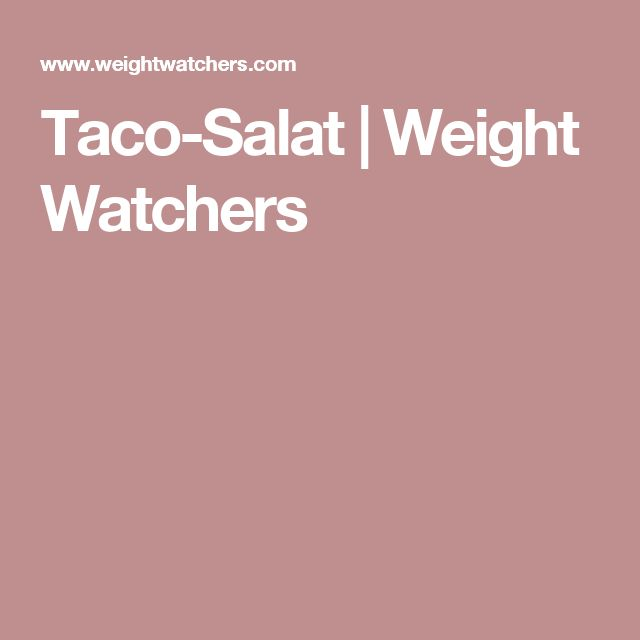 Taco-Salat | Weight Watchers