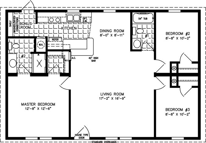 3br 2ba 28 39 x 40 39 imperial house plans pinterest for 3br 2ba floor plans