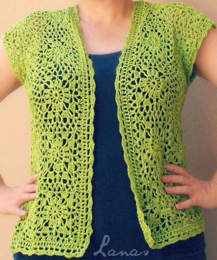 Lanas de Ana: Lime Lacy Vest