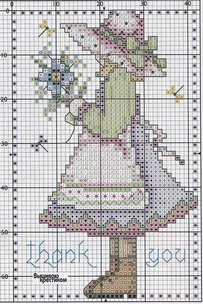 """Милые сердцу штучки: Вышивка крестом: """"Открытки в пастельных тонах"""" (Небольшие дизайны)"""