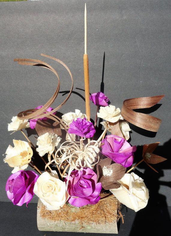 Handgesneden houten bloemen van MtnHeritageCarvings op Etsy