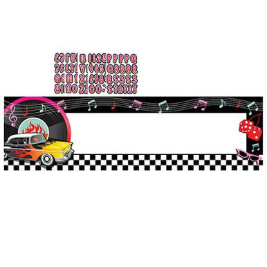 50s Rock U0026 Roll Personalized Giant Banner Kit