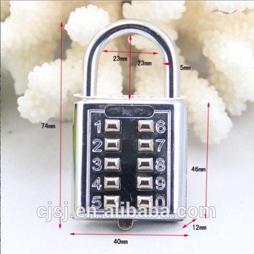 Ch-602 5 chiffres à bouton - poussoir combinaison nombre bagages voyage Code de verrouillage cadenas