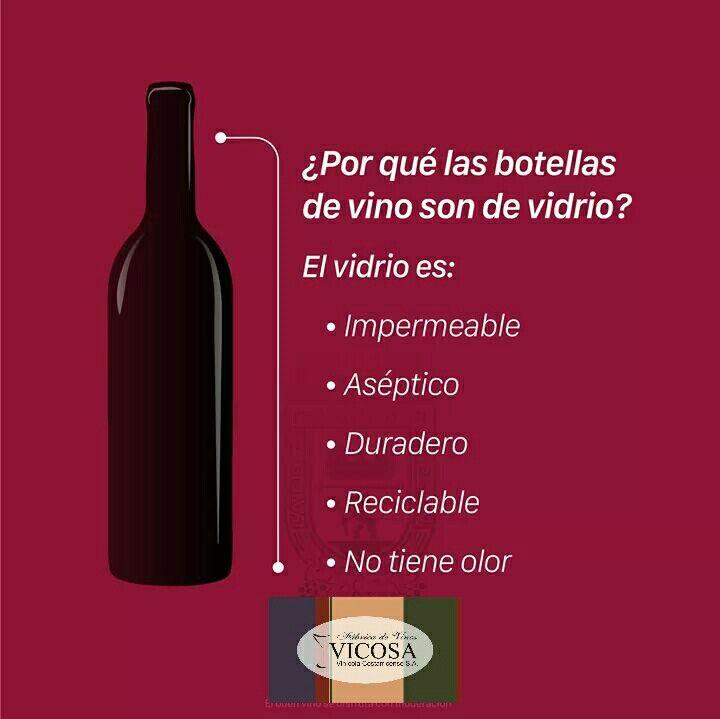 ¿Por qué las botellas de vino son de vidrio?