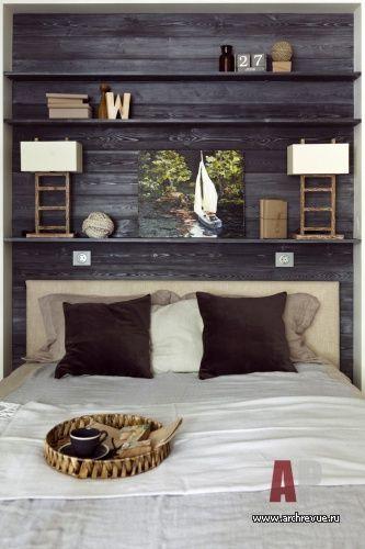 Фото интерьера спальни небольшой квартиры в современном стиле
