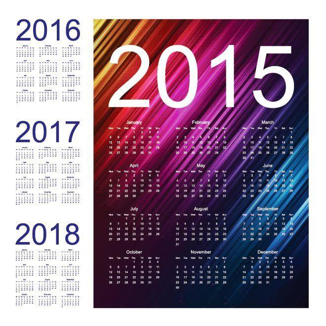 Abstrak Latar belakang musik 2015 Vector Calendar Template Kalender 2015 Desain Unik Jpg Cetak Dan Template Download