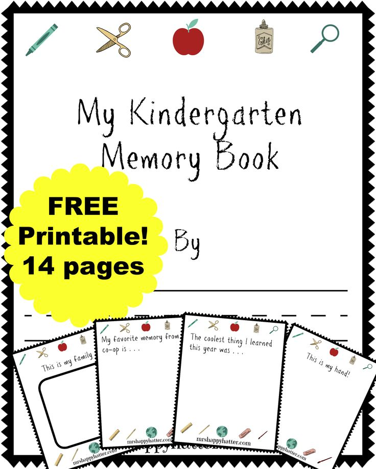 Get a FREE Kindergarten Memory Book, perfect for your homeschooled Kindergartner! Display the book at graduation, and save for a keepsake!