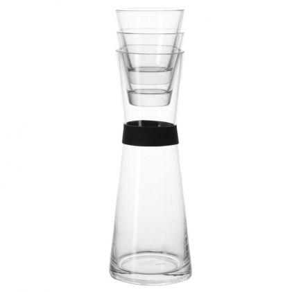 Karafka szklana z 2 szklankami LEONARDO 1 l