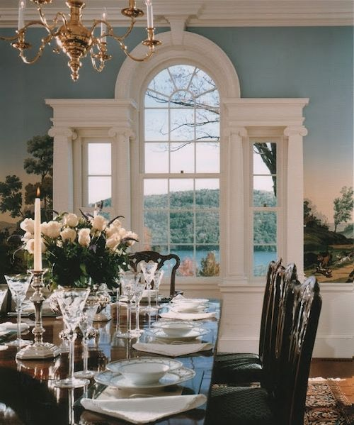 lovely: Dining Rooms Window, Architects Extraordinair, Beautiful Dining, Wall Murals, Interiors Architecture, Beautiful Window, Arches Window, Beautiful Rooms, House