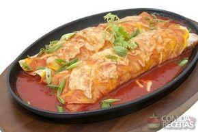 Receita de Panqueca de linguiça com molho vermelho em receitas de massas, veja…