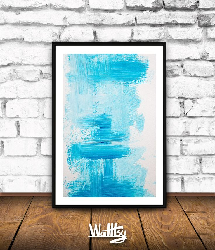 Blue Wall Art, Extra Large Home Decor, Large Abstract Painting Print, Blue Artwork, Modern Abstract Minimalism, Printable Insta Download JPG by Walltsy on Etsy