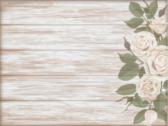 Vintage Wooden Background White Rose Bud White Roses Rose Buds Wooden Background
