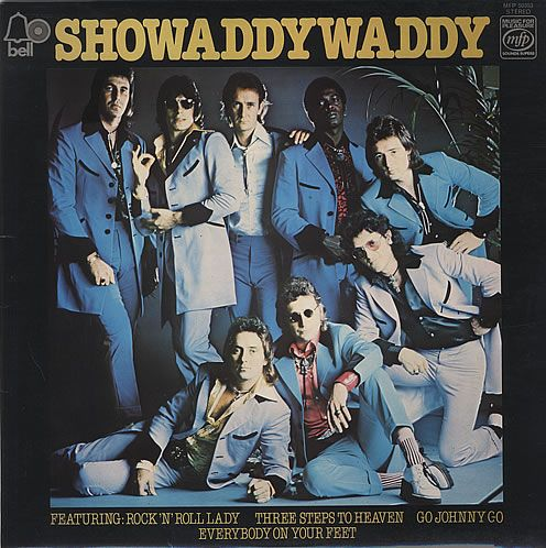 Showaddywaddy. 70's teddy boy pop kings, the Leicester based 8 piece boasted two lead singers, two bassists and two drummers!