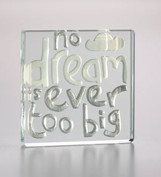 Dreams do come true. and after graduation encourage them to set their sights high - because no dream is ever too big. #Love #Quote #Gift #Sweet #Token #Congrats #Graduation #Spaceform #London