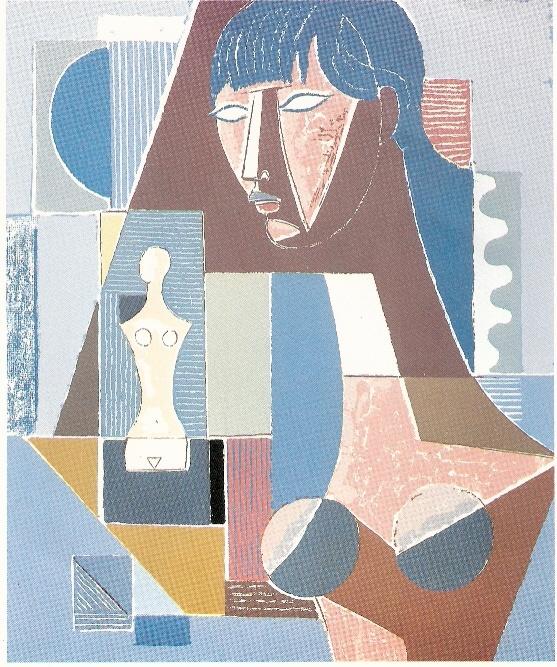 Mario Tozzi: 1977 La Ragazza dai Capelli Blu (serigrafia prodotta dall'Archivio)