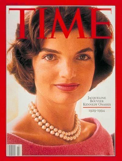 Jacqueline Kennedy Onassis: Jackie Kennedy, Jacqueline Kennedy Onassis, First Ladies, Pearls Necklaces, Style Icons, Vintage Magazines, Magazines Covers, White House, Time Magazines