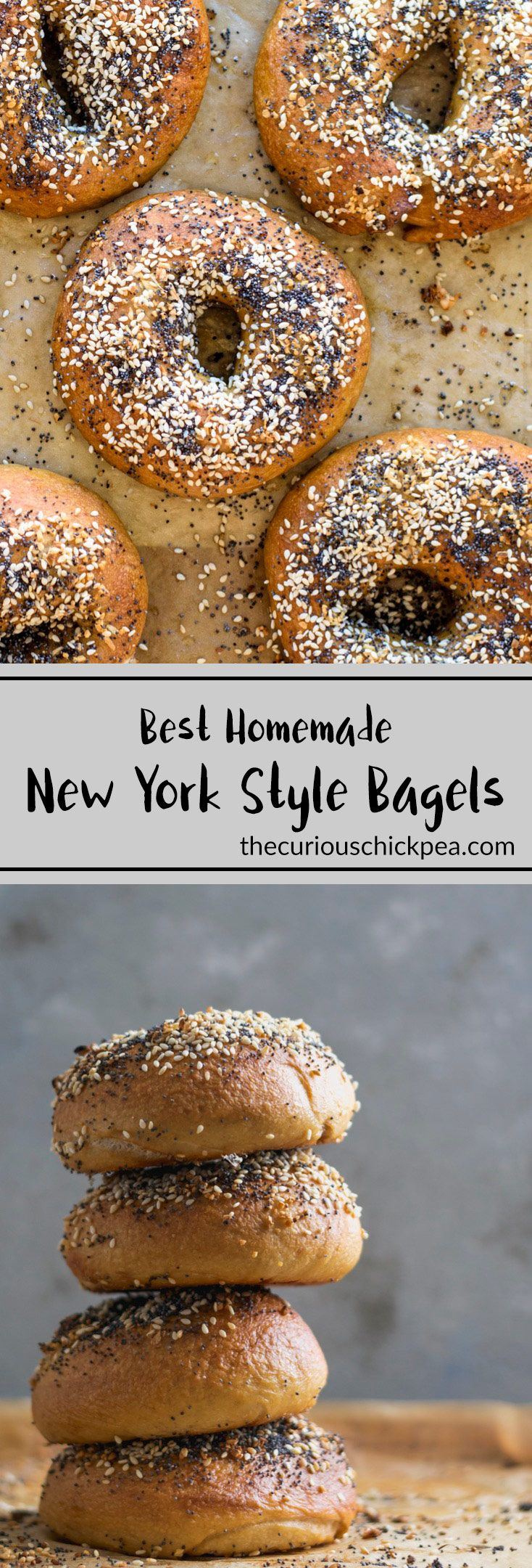 BEST Homemade New York Style Bagels | A step-by-step recipe and the science behind New York style bagels. Chewy and flavorful, they are made in the traditional method, with barley malt & boiling | thecuriouschickpea.com #vegan #bagels