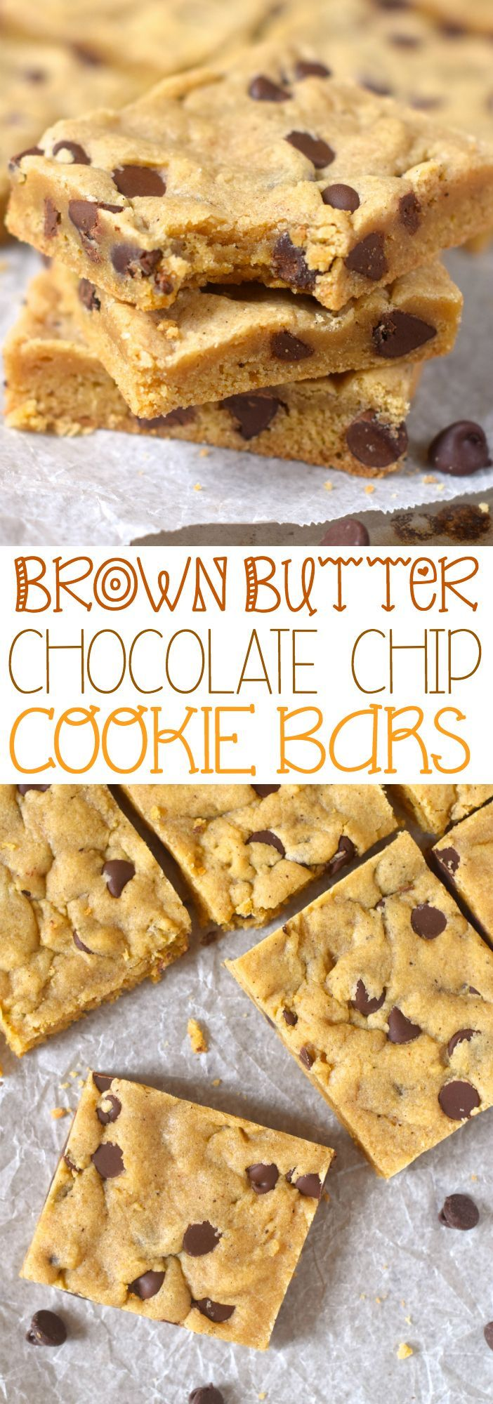 These Brown Butter Chocolate Chip Cookie Bars are insanely good! Like you cut off a slice and then suddenly the whole pan is gone good!