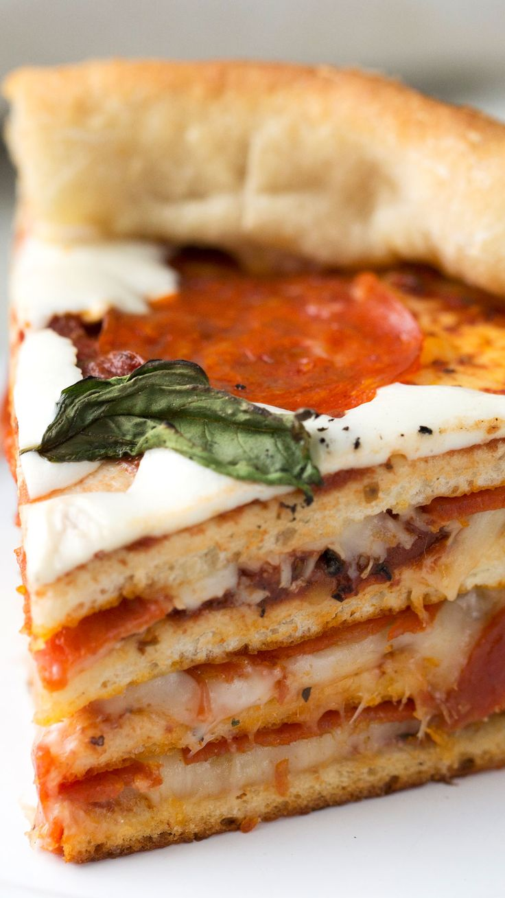 Have your cake and eat your pizza too with this hearty pizza cake layered with loads of cheese and pepperoni.
