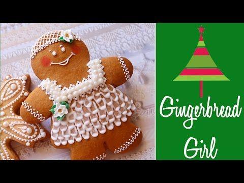 Cute Gingerbread Girl Cookie - YouTube