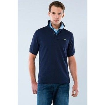 Men Polo Shirt Short Sleeve, Navy Blue