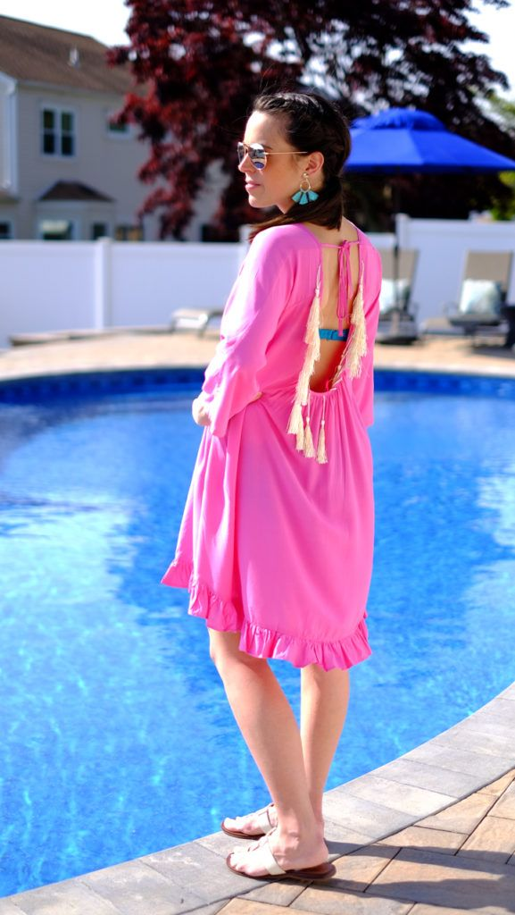 Easy Pool Day Outfit Tassel cover up
