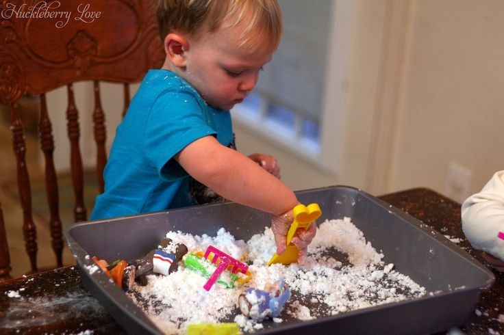 Huckleberry Love: Huckleberry Life: Play Snow {Sensory Activity}