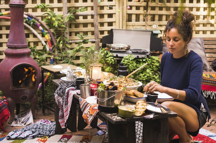 """Collaboration with the food blogger and food stylist """"For My Senses"""" in her surfy backyard cooking a moroccan seafood stew."""