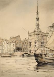 Accijnstoren te Alkmaar van Pieck, Anton