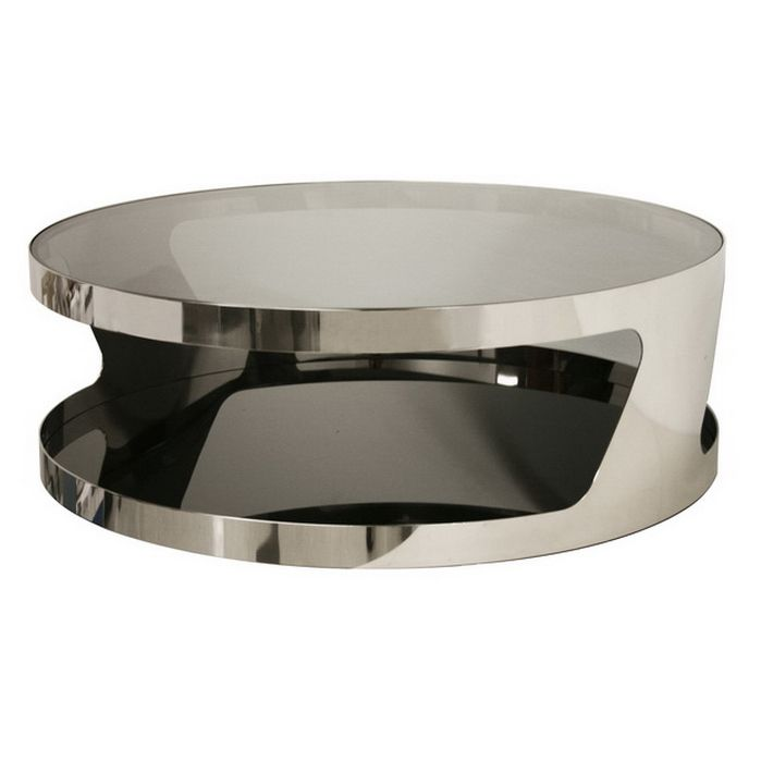 Wholesale Interiors   Baxton Studio Genesis Steel And Tinted Glass Modern  Coffee Table
