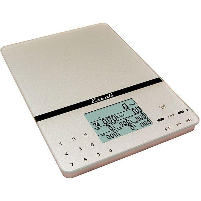 Escali Cesto Portable Silver Food Scale Silver