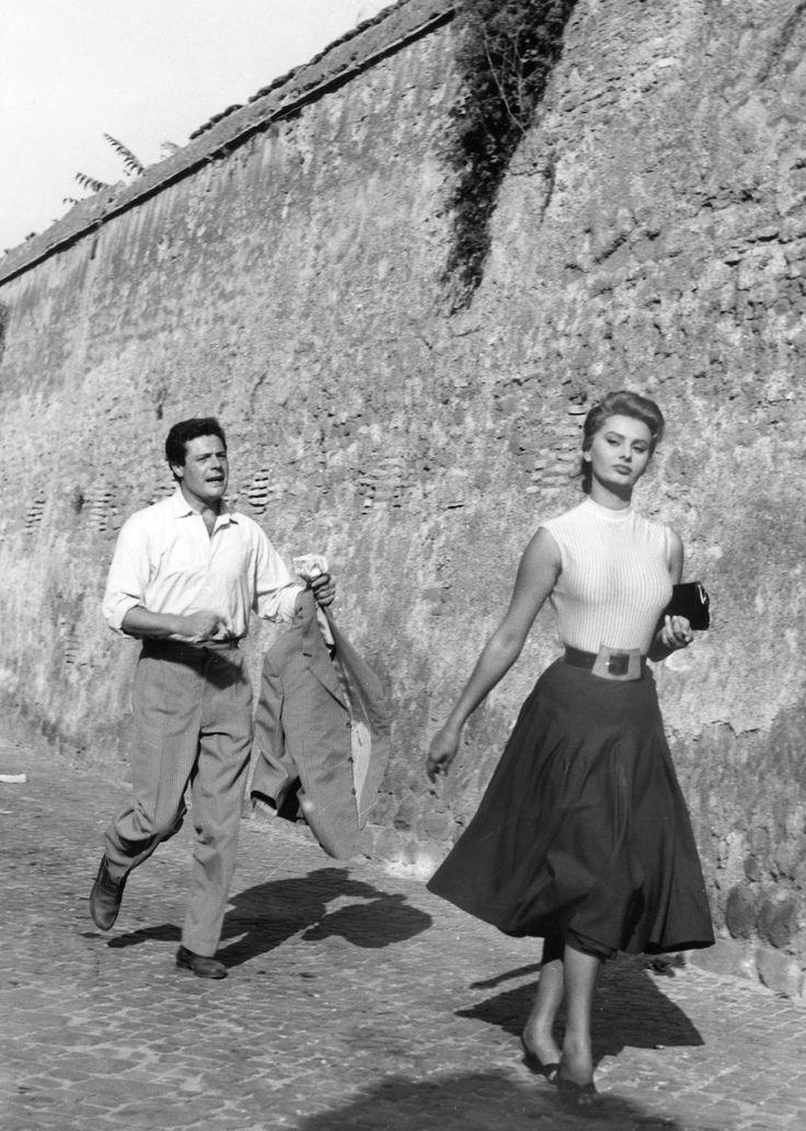 Marcello Mastroianni & Sophia Loren, 1954