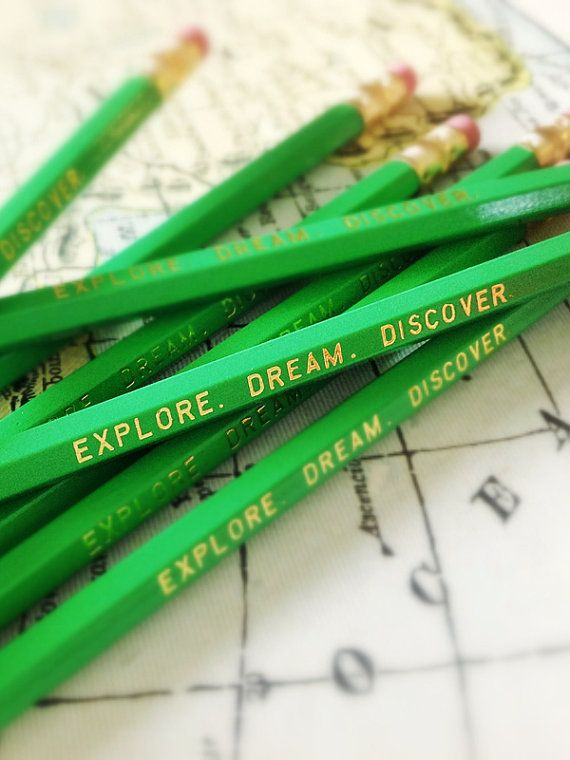 Explore. Dream. Discover. Pencils, great back to school supply! via Earmark $ 8.50